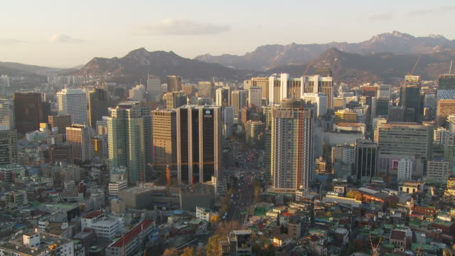City skyline of Seoul South Korea