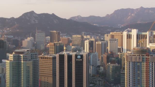 city skyline of seoul south korea - 韓国点の映像素材/bロール
