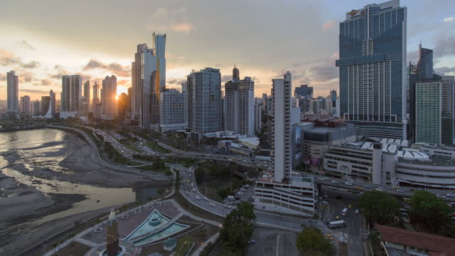 city skyline, panama city, panama, central america - panama canal stock videos & royalty-free footage