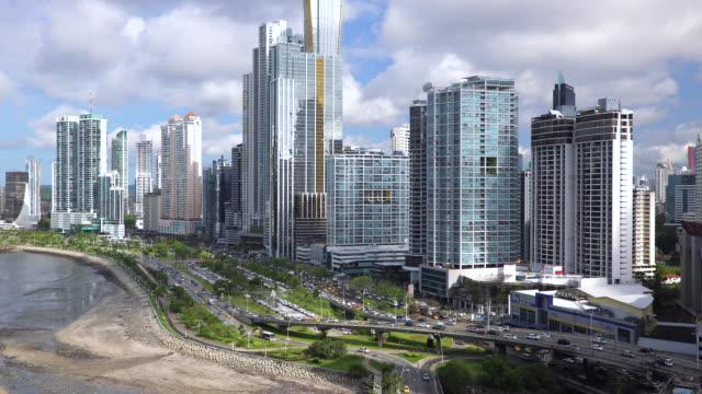 city skyline, panama city, panama, central america - panama city panama stock videos & royalty-free footage