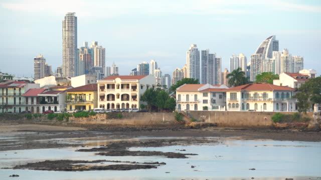 city skyline, panama city, panama, central america - パナマ点の映像素材/bロール
