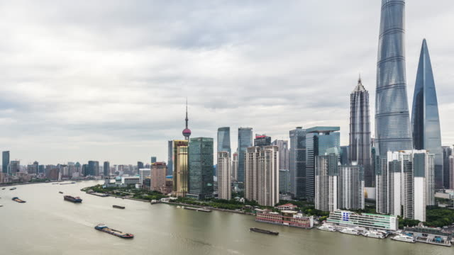 t/l ws ha zo city skyline / shanghai, china - shanghai world financial center stock videos & royalty-free footage