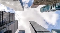 City Skyline Skyscrapers Futuristic Downtown Toronto office buildings