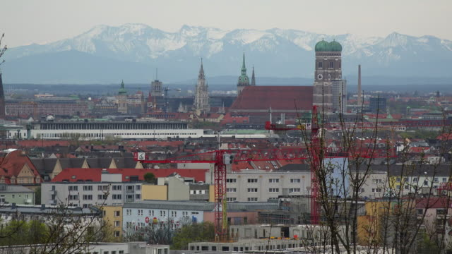 City skyline with Frauenkirche, Munich, Bavaria, Germany