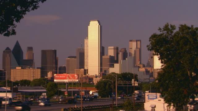 City skyline, zoom in
