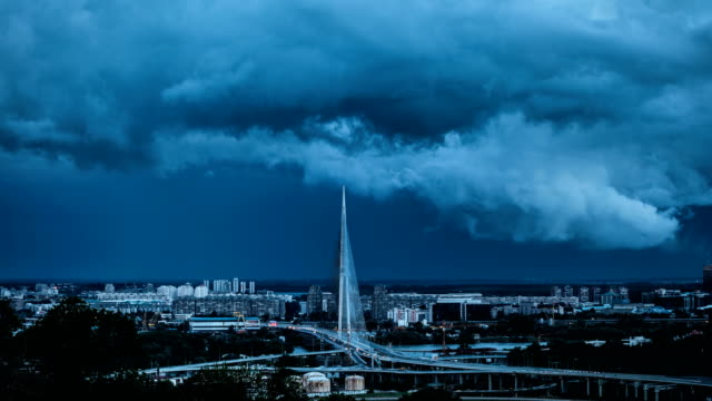 city storm - belgrade serbia stock videos and b-roll footage