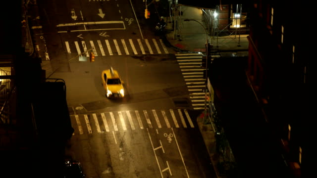 city street at night - taxi stock videos & royalty-free footage