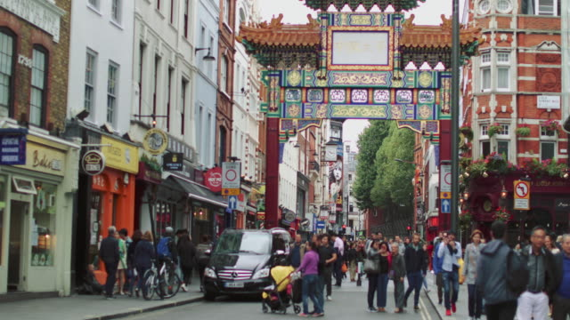 city street of london: chinatown - multiculturalism stock videos & royalty-free footage