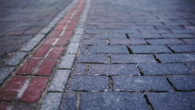 City street paved bricks