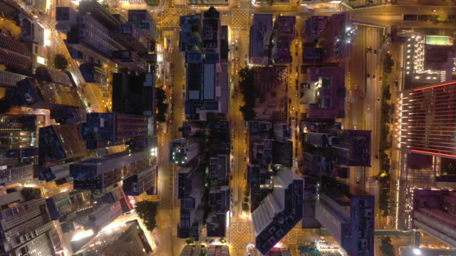 city street top view with zoom out in real time - major road video stock e b–roll