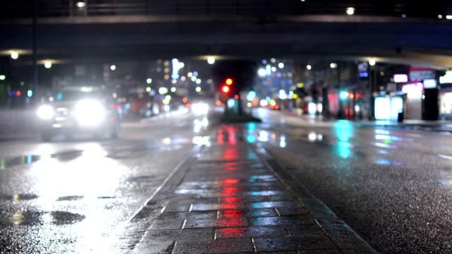 city street traffic - stockholm stock videos & royalty-free footage