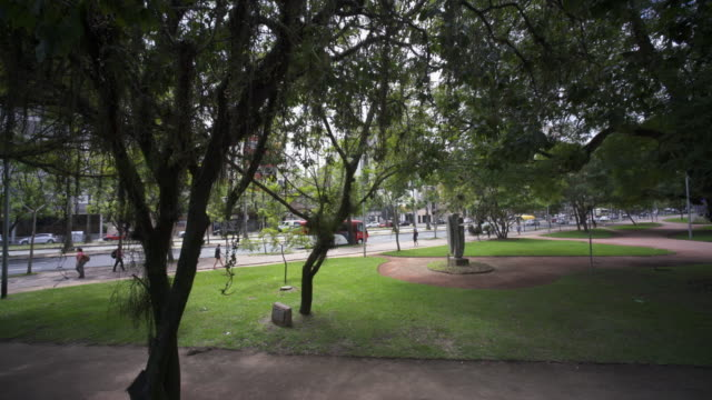 city streets and parks in the very green city of porto alegre - porto alegre stock videos and b-roll footage