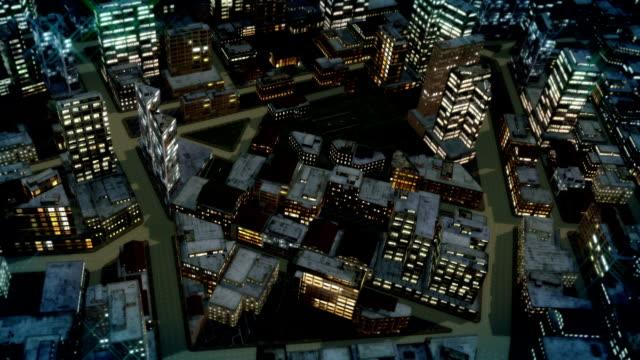 city streets crisscross past skyscrapers. - crisscross stock videos & royalty-free footage