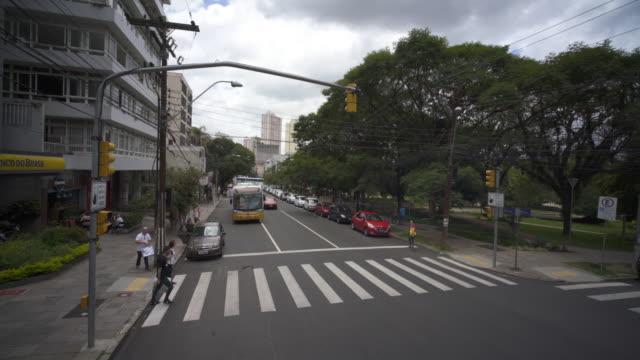 city streets of porto alegre, southern brazil - alegre stock videos & royalty-free footage