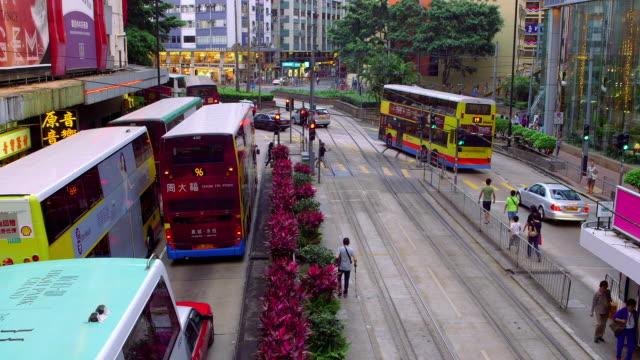 city streets - 路面軌道点の映像素材/bロール