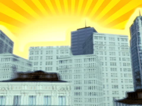 city sun horizontal - vector stock videos & royalty-free footage