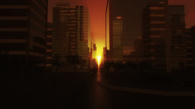 city sunrise