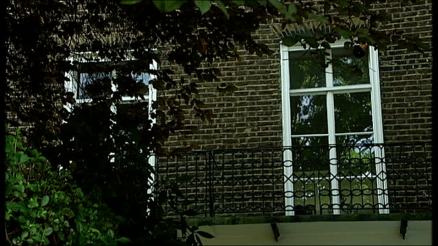 city trader james sanders jailed for insider dealing england london kensington ext wide shot georgian townhouse seen through trees various shots of... - place sign stock videos & royalty-free footage