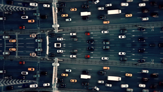 city traffic. aerial background. mirror effect - psychedelic stock videos & royalty-free footage