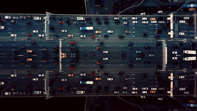 city traffic. aerial background. mirror effect - kaleidoscope pattern stock videos & royalty-free footage