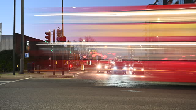city traffic at night time-lapse - moving past stock videos & royalty-free footage