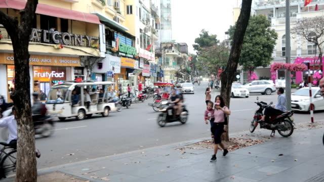city traffic, hanoi, vietnam - north vietnam stock videos & royalty-free footage