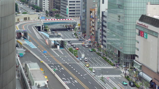 city traffic in ginza - ginza stock videos & royalty-free footage