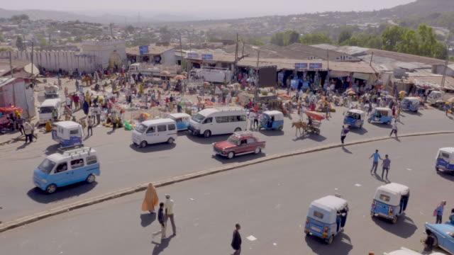 city traffic in harar, ethiopia - ethiopia stock videos & royalty-free footage