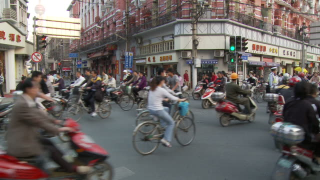 City traffic in Shanghai China
