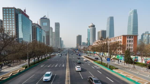 T/L WS RL PAN City Traffic of Beijing / Beijing, China