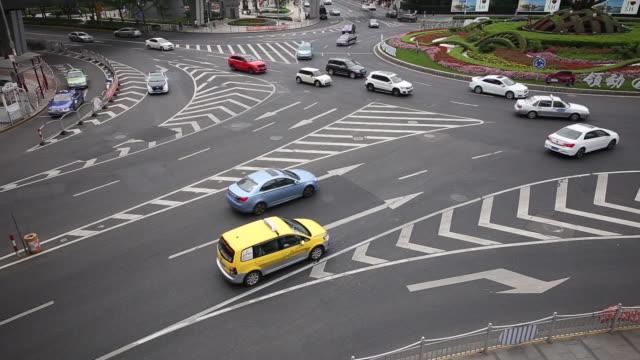 City traffic of Lujiazui,Shanghai,China