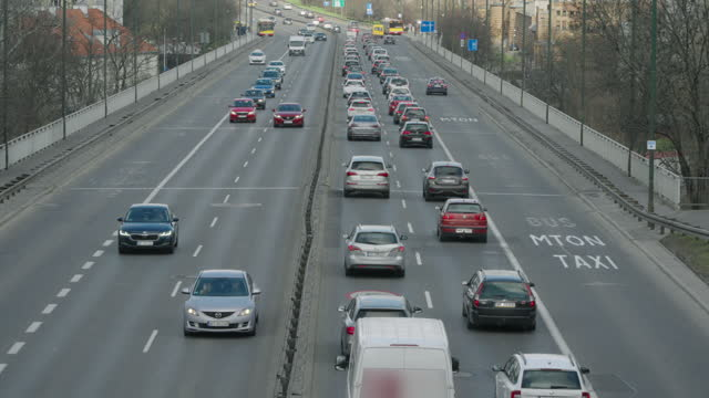 city traffic - eastern european culture stock videos & royalty-free footage