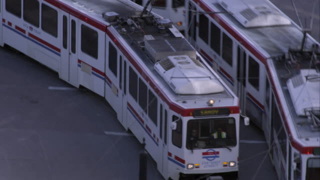 City trams in Salt Lake City, UT.
