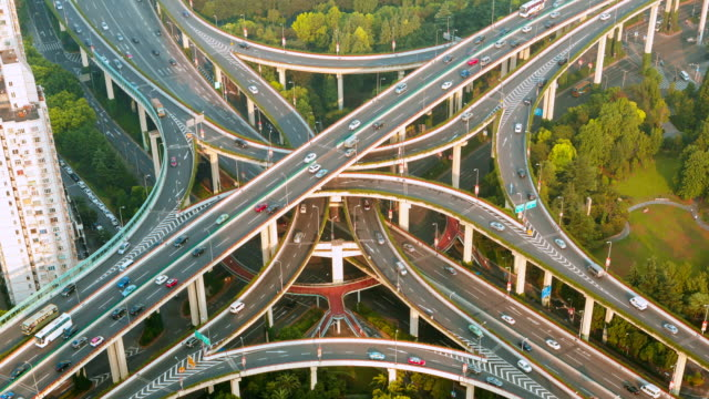 city transport hub - elevated road stock videos & royalty-free footage