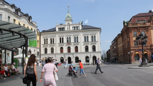 vídeos de stock e filmes b-roll de city uppsala in sweden - schweden