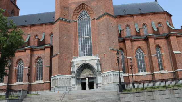 city uppsalla in sweden - church stock videos & royalty-free footage