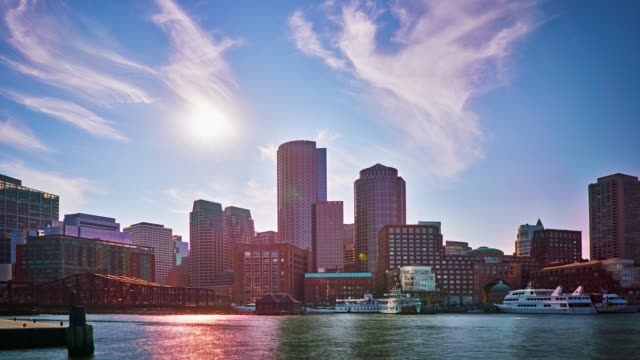 city - boston massachusetts stock-videos und b-roll-filmmaterial