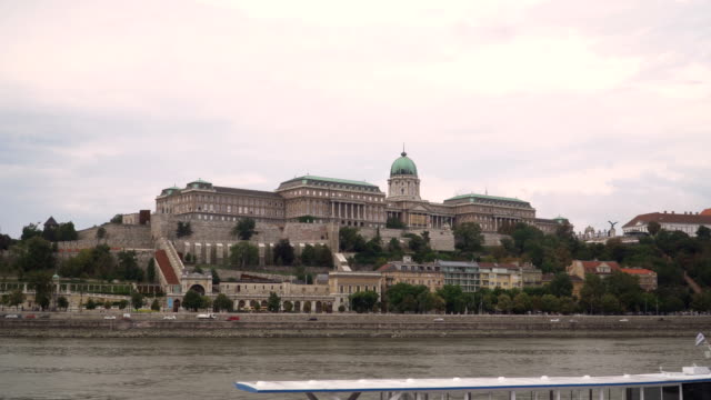 city view around danube river that consisted of castle hill in budapest, hungary - royal palace of buda stock videos & royalty-free footage