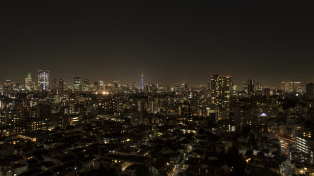 city view day to night - 昼から夜点の映像素材/bロール