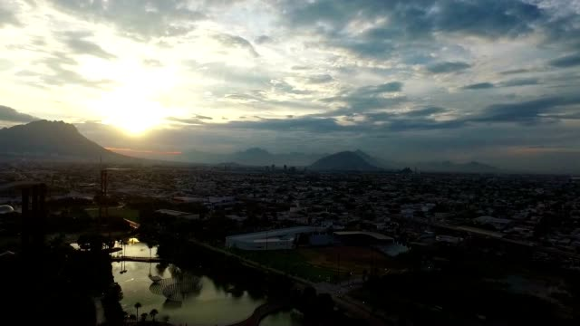 City view from a drone