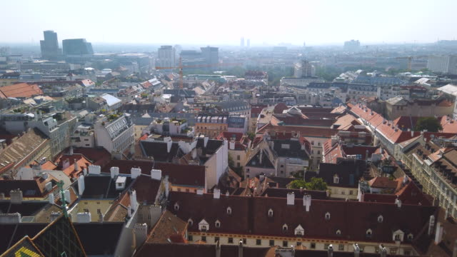 city view from stephansdom- st. stephen cathedral in vienna, austria - the hofburg complex stock videos & royalty-free footage