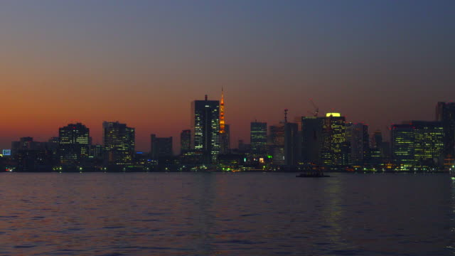 City view in tokyo at dusk