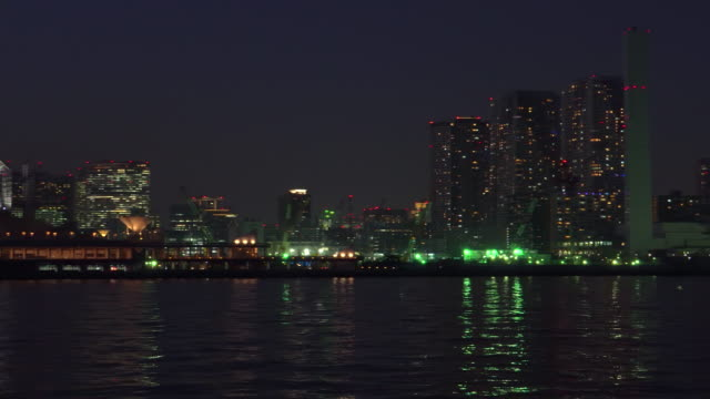 city view in tokyo at dusk - tokyo bay stock videos and b-roll footage