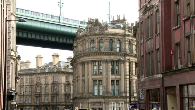 city view, newcastle upon tyne - newcastle upon tyne stock-videos und b-roll-filmmaterial