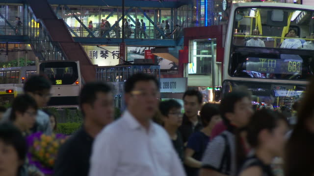 city view of hong kong, china - 少於10秒 個影片檔及 b 捲影像