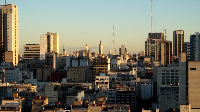 city view of in buenos aires, argentina - buenos aires stock videos & royalty-free footage