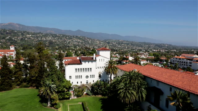 city view of santa barbara, california, usa - santa barbara california stock videos & royalty-free footage