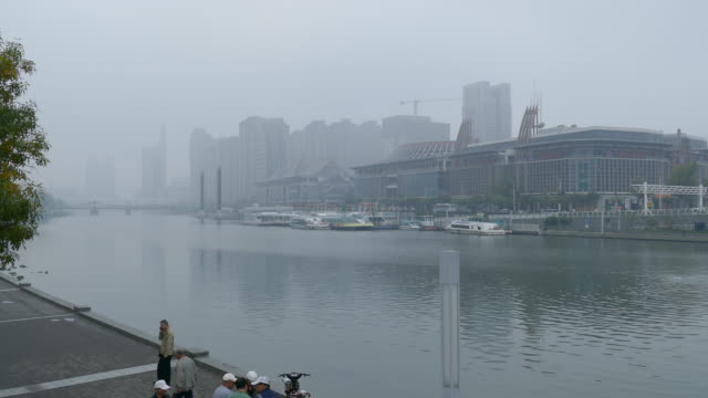 city view of tianjin, china - tianjin stock videos & royalty-free footage