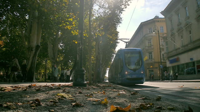 city view of zagreb, croatia - zagreb stock videos and b-roll footage