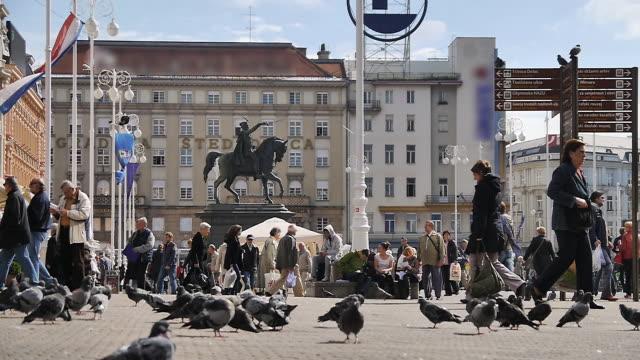 city view of zagreb, croatia - zagreb stock videos & royalty-free footage